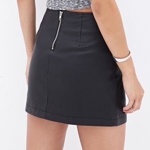 Forever 21 faux leather skirt with zipper accents